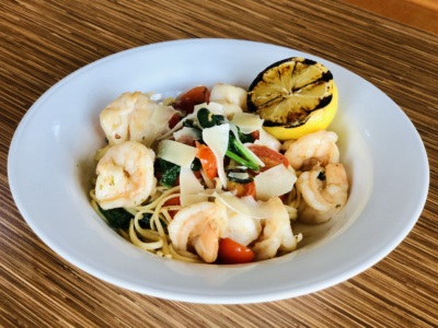 Lemon Garlic Shrimp Linguine